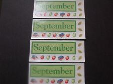 """Creative Memories Stickers - September - Lot of Four 2""""x5"""""""