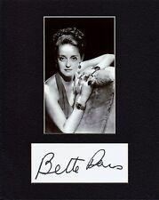 BETTE DAVIS  CUSTOM 8 by 10 MATTED REPRINT PHOTO & REPRINT  AUTOGRAPH