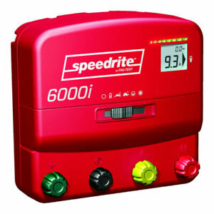 Speedrite 6000i Energizer 60 Mile Fence Charger. AC/DC Powered Includes Remote!