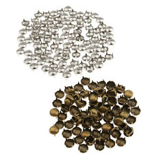 30Pc 2 Prong Metal Dome Spots Rivet Spike Studs For Bags Belts Clothes Decor