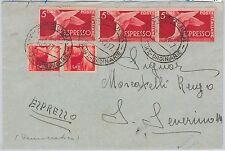 57134 - REPUBBLICA - STORIA POSTALE: ESPRESSI su BUSTA da  PERUGIA 1947