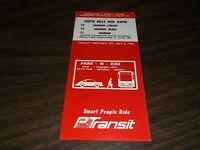 JULY 1976 PATransit ROUTE 35/36/37 PITTSBURGH, PA PUBLIC TIMETABLE