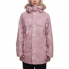 686 Womens Dream Insulated Ski Fur Jacket L8w311 Blush Wash Size Small