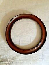 "Wooden Wall Mount Decorative Plate Holder Mahogany Finish 8.5"" - 9.25"" diameter"