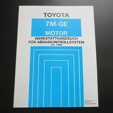 Werkstatthandbuch Toyota Supra MA70 Motor 7M-GE Abgaskontrollsystem ab 01/1986