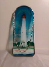 "Sun Catcher, Lighthouse, Cape May, New Jersey, 11"" H X 4"" W, Hand Painted"