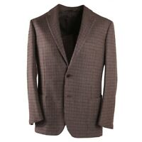 NWT $4495 LUCIANO BARBERA SARTORIALE Woven Check Cashmere Sport Coat 40 R