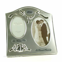 Happy Anniversary 60th Diamond Wedding Anniversary Dual Photo Frame FS55060