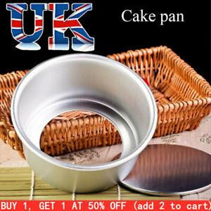 Round Cake Tin 4/6/8/10inch Loose Base Bottom Deep Baking Pans Tier Bakeware
