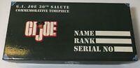 Gi Joe 30th Anniversary Salute Commemorative Watch With Dog tags 1994 Hasbro