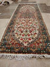Exclusive Pestal Light Floral Hand Knotted Runner Rug Wool Silk Carpet (6 x 2)'