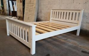 BESPOKE CROWN BED WHITE WITH EXTRA STRONG BED SLATS