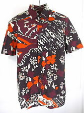 BURBERRY PRORSUM SHIRT Men's 15/SMALL Button Front Cotton Italy Floral LIKENEW