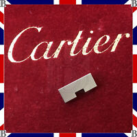 Genuine Cartier Santos Galbee Godron Steel Strap Bracelet End Link 0 14 mm
