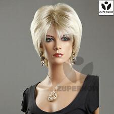 Beauty hair short wigs women full cap wig gold straight female fashion wig