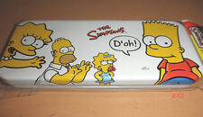 THE SIMPSONS White PENCIL CASE Homer Bart Marge Lisa Maggie Simpson Family toy