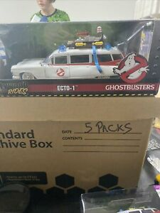 """Jada Toys Hollywood Rides """"Ghostbusters"""" ECHO-1 1959 Cadillac Never Opened 1/24"""
