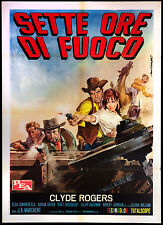 CINEMA-manifesto SETTE ORE DI FUOCO c. rogers, sommerfeld; MARCHENT