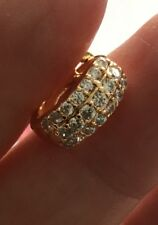 Gents Mens Single Earring 18K Gold Diamond Huggie Hoop Earring 413