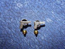 Firearms Lapel/Hat Pin Tie Tacks 2 ~ 9Mm Hand Gun Pistol