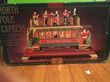 Enesco Style Maisto North Pole Express Trolley Train Multi-Action/Lites Musical