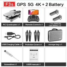 NEW F3 Drone GPS 5G 4K 2Battery WiFi Live Video FPV Quadrotor HD Wide-Angle