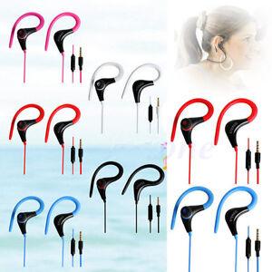 3.5mm In-ear Hook Stereo Headphone Earphone Handsfree Headset for iPhone Samsung