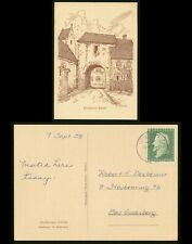 Mayfairstamps Germany 1958 Dexheimer Schlob to Bad Godesburg Postcard wwp11729