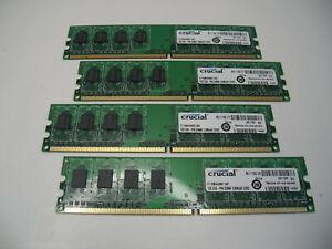 Crucial CT12864AA667.K8F PC2-5300 667MHz Desktop Memory (Lot of 4)