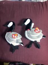 """Rare Vintage Ty Beanie Baby """"Loosy The Goose"""" 1998 Retired ☆☆Errors☆☆"""