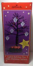 Hallmark Lighted Halloween Tree original box w/5ghost ornaments party centerpiec