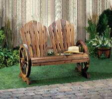 wood wooden WAGON WHEEL park patio furniture BENCH ADIRONDACK chair country Yard