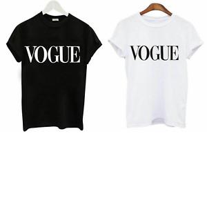 Womens Ladies Girls Short Sleeve Vouge Slogan Printed Casual T  Shirt top
