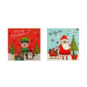 Christmas Set 20 Christmas Cards Red Blue Festive Xmas Family Kids