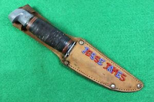 REMINGTON 1920-1940 RH-24, PAL HUNTING KNIFE W/ CUSTOM BEADED SHEATH