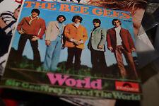 THE BEE GEES WORLD 1967 SINGAPORE HONG KONG COLONY  UK Disc 7' vinyl original