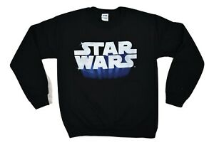 Mens Star Wars Classic Logo Fleece Crew Shirt Sweatshirt New S,L,XL,2XL