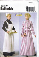 Victorian Edwardian Bib Apron Servant Dress Sewing Pattern Size 14 16 18 20 22