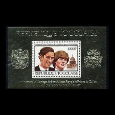 Togo, Sc #1106, MNH, 1981, S/S, Dianna & Charles, Gold Foil, CL175F