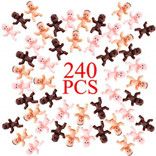 240pcs Mini Plastic Babies Crafting Baby Dolls Shower Party Decorations Pink
