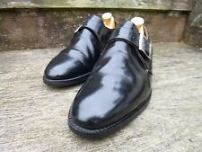 CHEANEY / CHURCH MONK STRAP SHOES – BLACK  - UK 7 – VERY GOOD CONDITION
