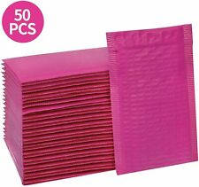Poly Bubble Mailers Self Seal Hot Pink Padded Envelopes Adhesive 4x8 Inches 50pc