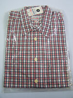Levi's Checked Shirt Men's Large Unworn 1990s Red White Blue NWT Vtg LSHz589 #