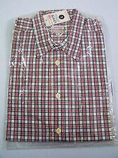 LEVI'S Carreaux Chemise Hommes Large neufs 1990 S Rouge Blanc Bleu Neuf Avec Étiquettes Vintage LSHZ 589 #