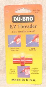 Du-Bro E/Z Threader 3 in 1 Installation Tool 725 Made in USA 2-56 & 4-40 NEW