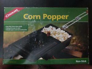 Coghlan's Pop Corn Popper 9365 Fire Camp Fire Stove Non-Stick 2 Piece Handle New