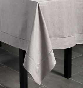 SFERRA FESTIVAL PURE LINEN HEMSTITCHED, SQUARE OR RECTANGULAR TABLECLOTH