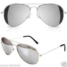 Classic Silver Mercury Lenses Aviator Sunglasses With UV400 Protection