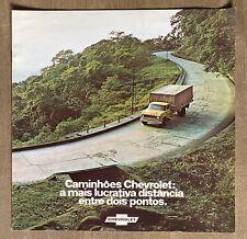 c1973 Chevrolet Caminhões (Trucks) original Brazilian sales brochure