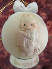 """Precious Moments-#527734 """"Greatest Of These Is Love""""1992 Dated Ball Ornament-Nib"""